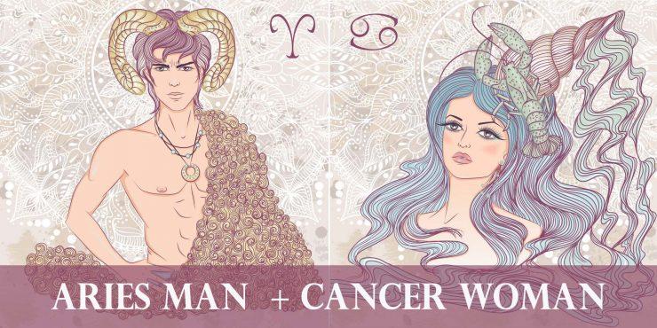 aries man cancer woman