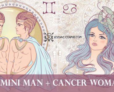 gemini man cancer woman