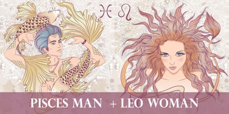 pisces man leo woman