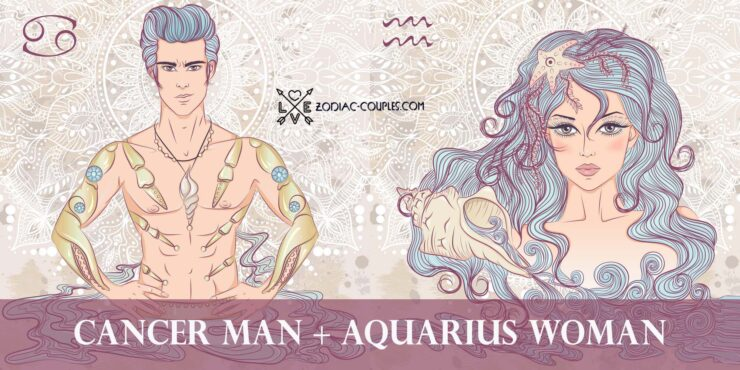 cancer man aquarius woman