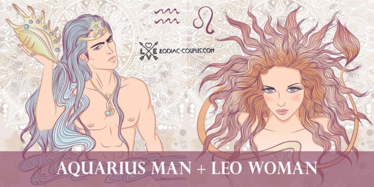 aquarius man leo woman