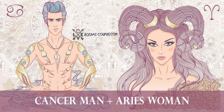 cancer man aries woman