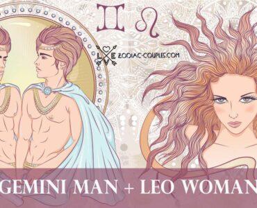 gemini man leo woman