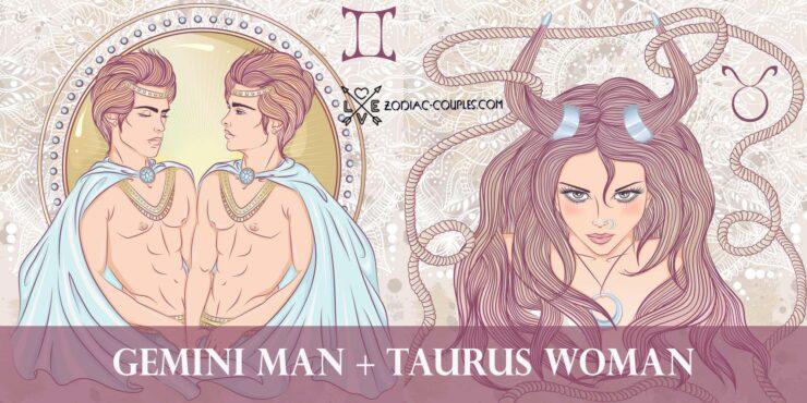 gemini man taurus woman