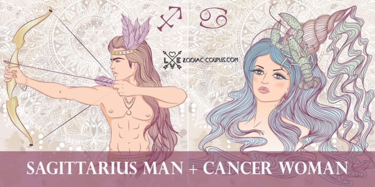 sagittarius man cancer woman
