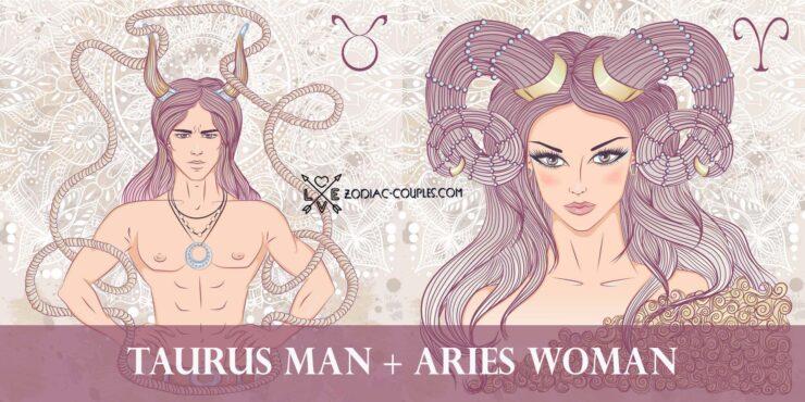 taurus man aries woman