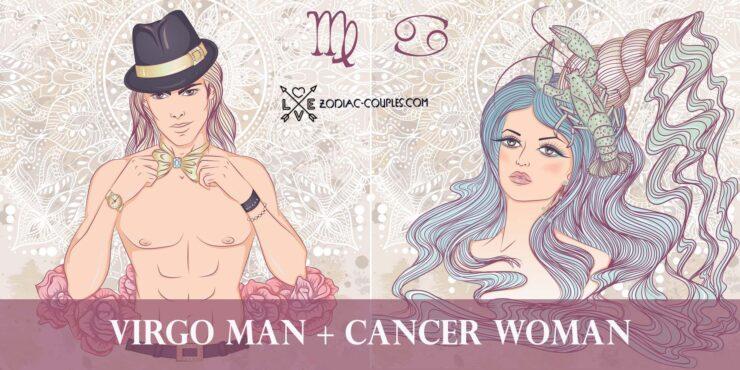 virgo man cancer woman