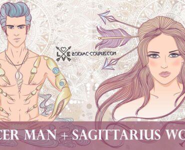 cancer man sagittarius woman