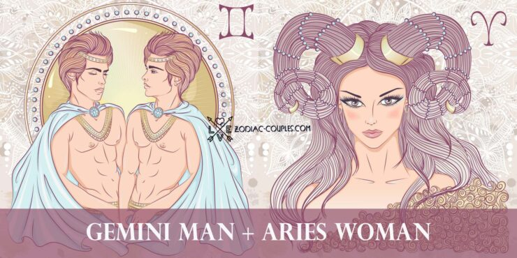 gemini man aries woman