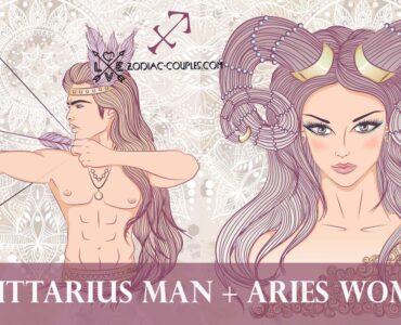 sagittarius man aries woman
