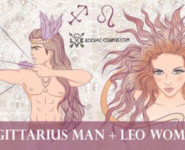 sagittarius man leo woman