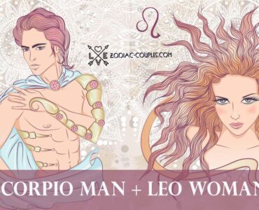 scorpio man leo woman