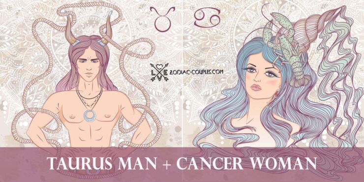 taurus man cancer woman