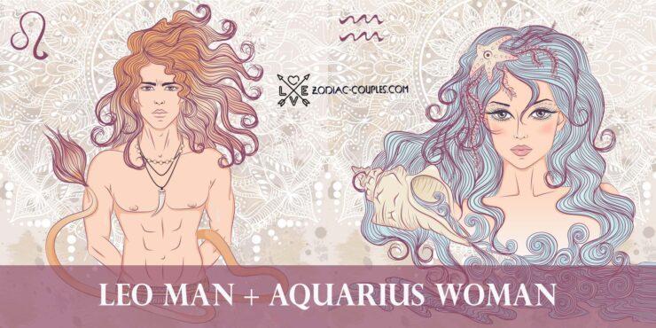 leo man aquarius woman