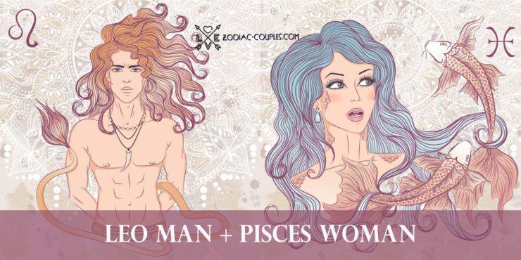 leo man pisces woman