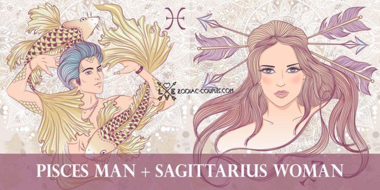pisces man sagittarius woman