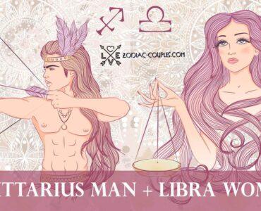 sagittarius man libra woman