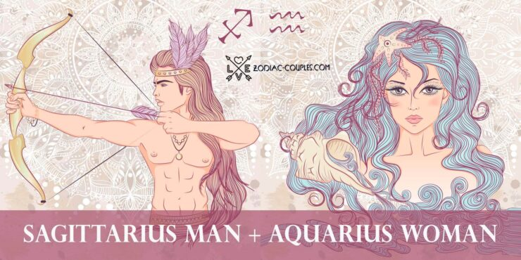 sagittarius man aquarius woman