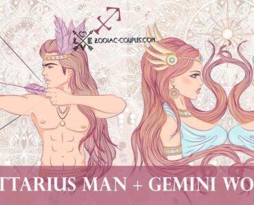 sagittarius man gemini woman