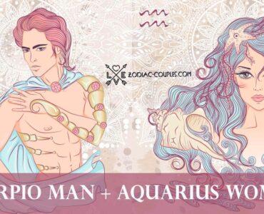 scorpio man aquarius woman