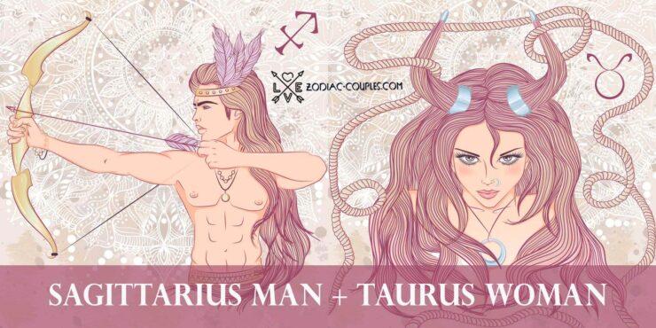 sagittarius man taurus woman