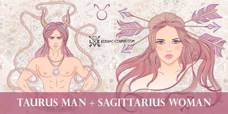 taurus man sagittarius woman